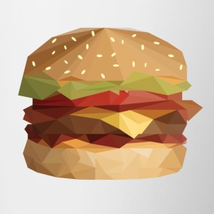 Low Poly Burger - Kubek dwukolorowy