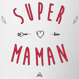 Super mom - Mok tweekleurig
