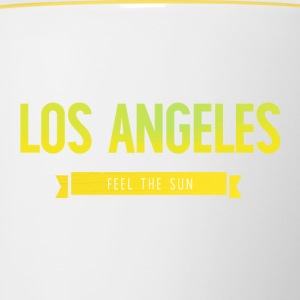 Typografie LOS ANGELES FEEL THE SUN - Tasse zweifarbig