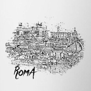 Roma / Rome motif with city sketch - Contrasting Mug