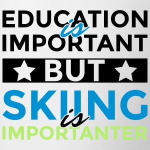 Education is important but skiing is importanter - Contrasting Mug