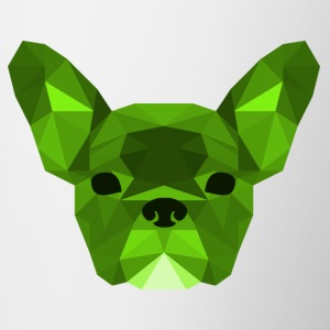 verde Low Poly Frenchie - Tazze bicolor