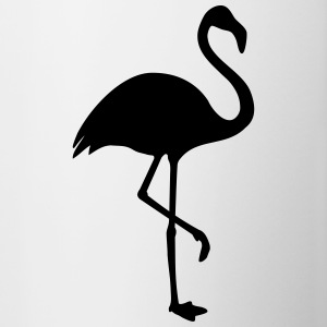 Flamingo black - Contrasting Mug