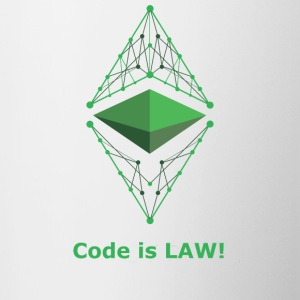 Ethereum Classic - Code is LAW! - Tasse zweifarbig