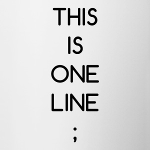 This Is One Line; - Tasse zweifarbig