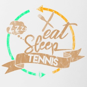 Eat Sleep Tennis Gjenta - Tofarget kopp
