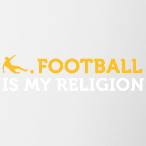 Citations du football: le football est ma religion - Tasse bicolore