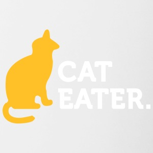Macho Quotes: I Eat Cats! - Contrasting Mug