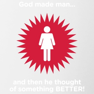 God Created Adam & Eve.And Then Something Better! - Mok tweekleurig