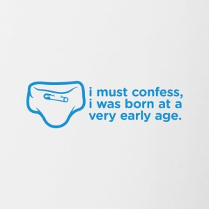 I Admit That I Was Born Very Young - Contrasting Mug