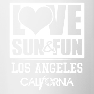Love, Sun & Fun · Los Angeles · Kalifornien - Tvåfärgad mugg