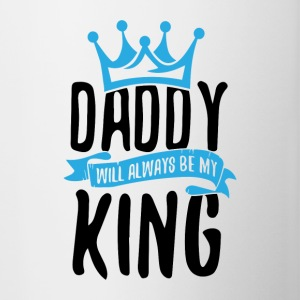 Daddy Will Always Be My King - Contrasting Mug