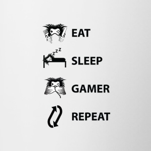 Eat Sleep Gamer Repeat - Tazze bicolor