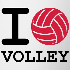 i love volleyball - Contrasting Mug