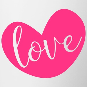 Love in Pink Heart - Contrasting Mug
