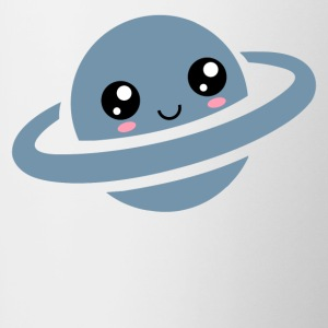 Kawaii, planet, saturn, anime, manga, comic, cute - Contrasting Mug