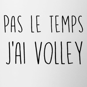 pas le temps volley - Tasse bicolore
