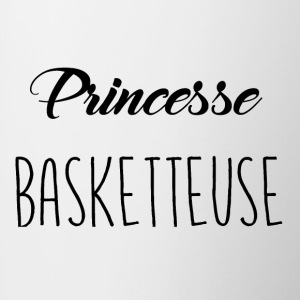 princesse basketteuse - Tasse bicolore