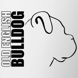 OLD ENGLISH BULLDOG WILSIGNS PROFIL - Tasse bicolore
