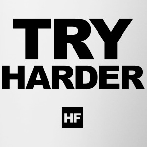 TRY HARDER - Tasse zweifarbig