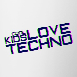 cool kids love techno - Contrasting Mug