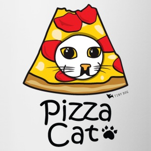 Pizza Cat - Tasse bicolore