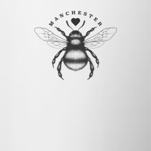 Traditional worker bee and love heart Manchester - Contrasting Mug