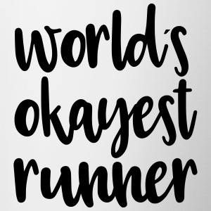 World's okayest runner - Contrasting Mug