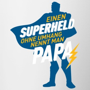 Papa superhelden without cloak - Contrasting Mug