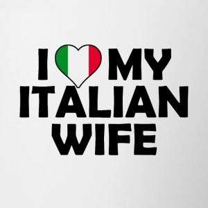 I Love my italian wife - Contrasting Mug