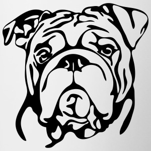 ENGLISH BULLDOG PORTRAIT - Tasse bicolore