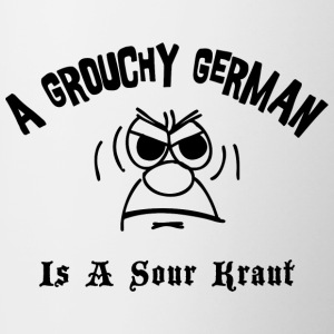 Grouchy German Is A Sour Kraut - Contrasting Mug