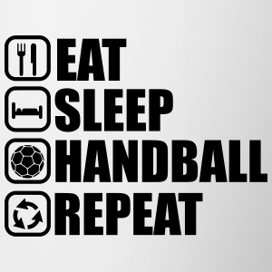 Eat sleep handball repeat - Contrasting Mug