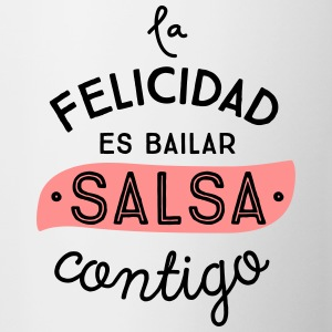 HAPPINESS IS DANCING SALSA CONTIGO - Contrasting Mug