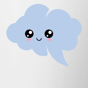 Cloud, kawaii, speech bubble, anime, manga, comic, - Contrasting Mug