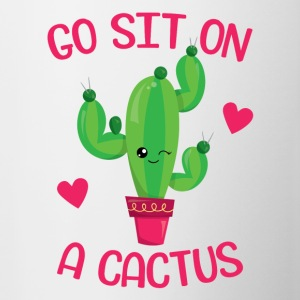 Go sit on a cactus - Contrasting Mug