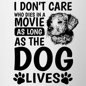 I do not care who's in a movie - Contrasting Mug