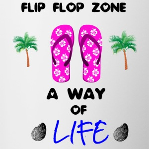 Strand - Meer - Flip Flops Collection - Tasse zweifarbig