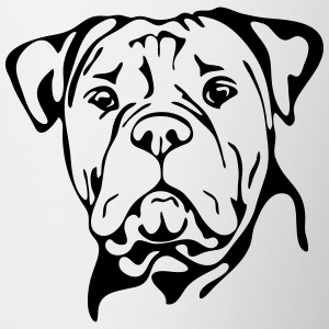 OLD ENGLISH BULLDOG PORTRAIT - Tasse bicolore