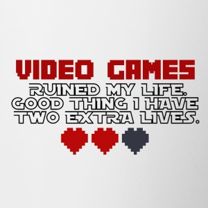 Video Games - Two Extra Lives - Tasse zweifarbig