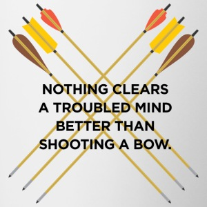 Nothing clears a troubled mind better than archery - Contrasting Mug
