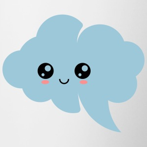 Kawaii cloud, anime, manga, comic, speech bubble - Contrasting Mug