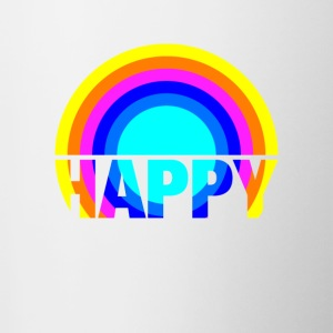 Happy Rainbow Gay Pride Regenbogen Kunst Design - Tasse zweifarbig