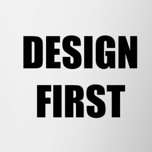 Design First - Tasse zweifarbig