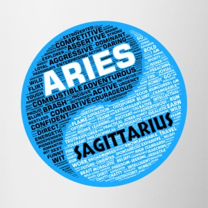 Aries and Sagittarius Zodiac Sign Man Love Mug - Contrasting Mug