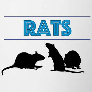 Rats With Rats' Silhouette - Contrasting Mug