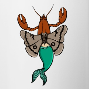 Lobster moth-mermaid - Contrasting Mug
