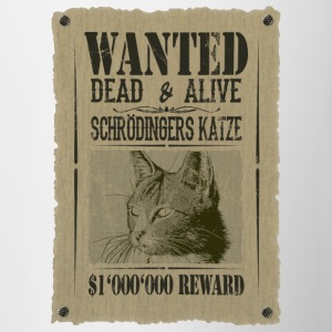 Schrödinger's Cat - Wanted Dead And Alive - Contrasting Mug