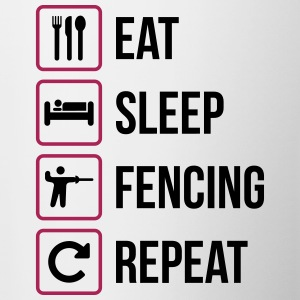 Eat Sleep Fencing Repeat - Tasse zweifarbig