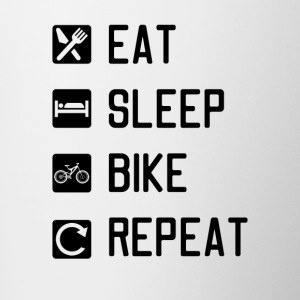 EAT SLEEP BIKE REPEAT - Contrasting Mug